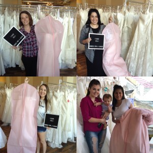 Four happy brides who said yes with #operationweddinggown