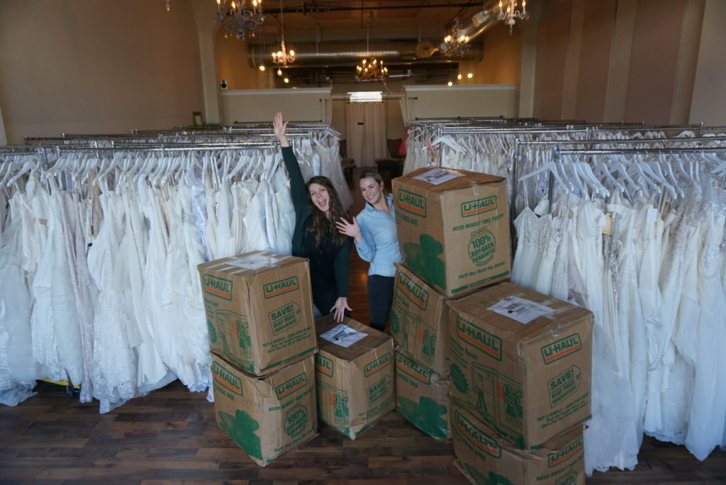 1f70e8fcc35f6 One and Only Bridal Boutique donation at PDX boutique!   Brides for ...